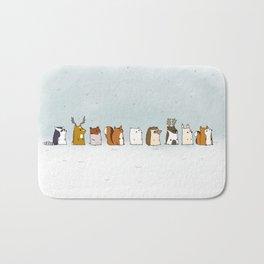 Winter forest animals Bath Mat