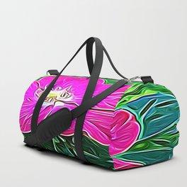 Magenta Flower of Harmony Duffle Bag