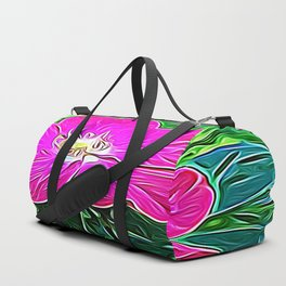 Magenta Flower of Harmony Duffle Bag