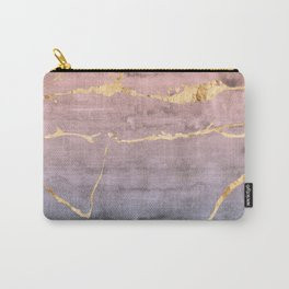 Watercolor Gradient Gold Foil Carry-All Pouch