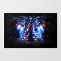 castlevania Canvas Prints featuring Castlevania: Vampire Variations- Dracula by LightningArts