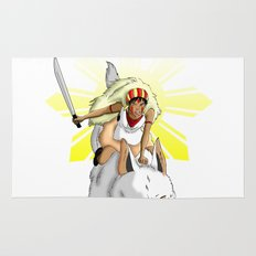 Andrea Bonifacio: San (Princess Mononoke) x Bonifacio x Gabriela Silang Rug