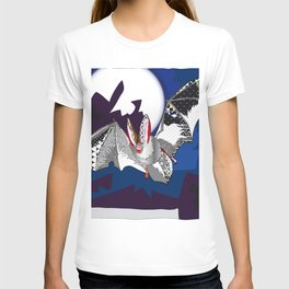 bat pattern T-shirt
