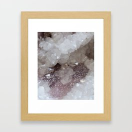 Silver & Quartz Crystal Framed Art Print