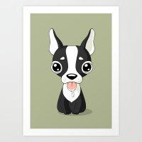 french bulldog Art Prints featuring French Bulldog by Freeminds