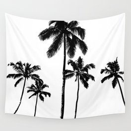Monochrome tropical palms Wall Tapestry