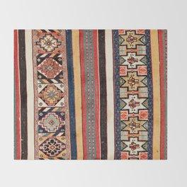 Salé  Antique Morocco North African Flatweave Rug Print Throw Blanket