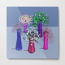 Cascade Flowers Metal Print