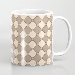 Earthtone square grid pattern Coffee Mug