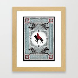 Red and Wolf Framed Art Print