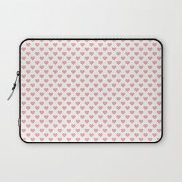 Large Blush Pink Lovehearts on White Laptop Sleeve