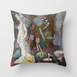 Henri Matisse - Nature morte à la statuette Throw Pillow