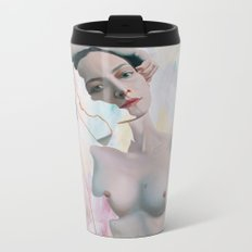 Ollie with White, Red and Green Metal Travel Mug