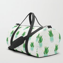 Potted Snake Plant Pattern Duffle Bag