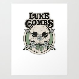 luke combs Art Print
