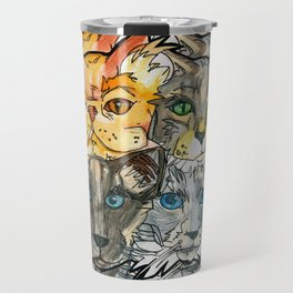 a clowder Travel Mug
