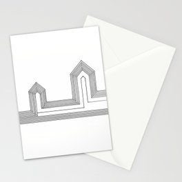 Line Houses Stationery Cards