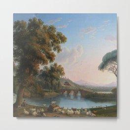 Italian River Landscape by Jakob Philipp Hackert Metal Print