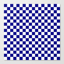 Jumbo Blue and White Australian Racing Flag Checked Checkerboard Canvas Print