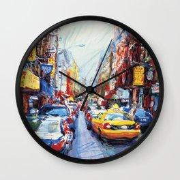 Mott Street, New York City Wall Clock