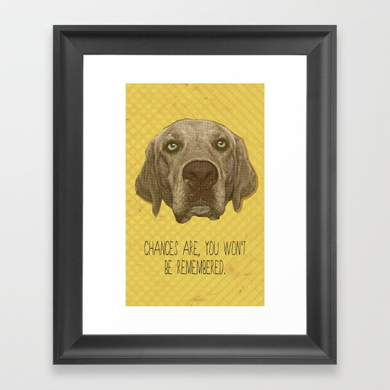 Golden Lab Print Framed Art Print