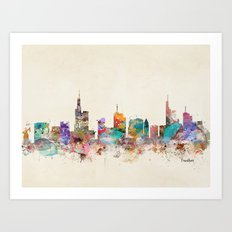 Frankfurt city Germany Art Print