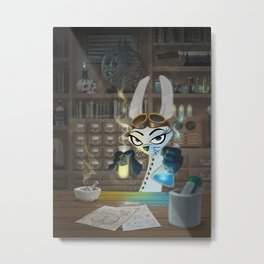 The Lair of the Dark Bunny Metal Print
