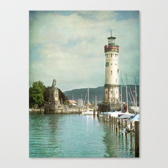 LINDAU LIGHTHOUSE - LAKE OF CONSTANCE Canvas Print