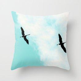 Crane(s) V Throw Pillow
