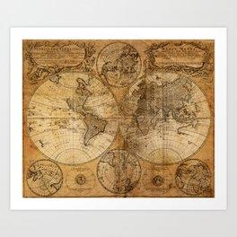 World Map 1746 Art Print