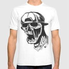 SNAPBACK MEDIUM Mens Fitted Tee White