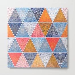 Pattern Mandala Losange Metal Print