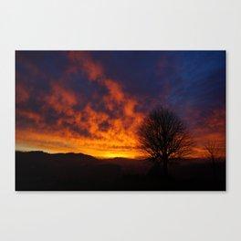 Winter Sunset 2 Canvas Print