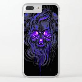 Purple Nurpel Skeletons Clear iPhone Case