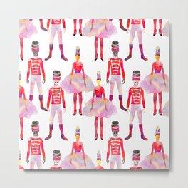 Nutcracker Ballet - White Metal Print