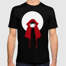 Little Red Riding Hood MEDIUM Mens Fitted Tee Black