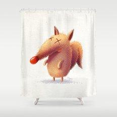 Monday fox Shower Curtain