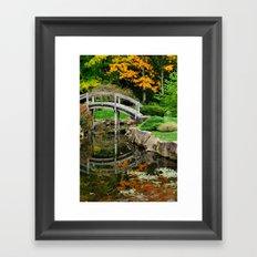 Early fall in the tea garden Framed Art Print