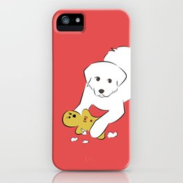 Gingerbread Gets It - Great Pyrenees Humor iPhone Case
