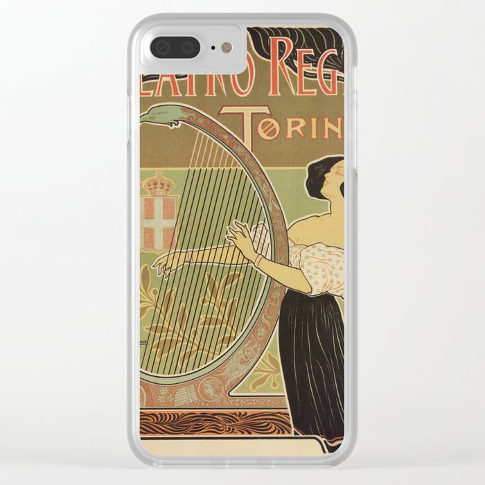 Art nouveau Royal Opera House Turin Torino Clear iPhone Case