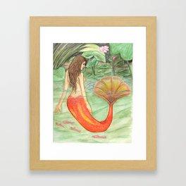 Waterlily Mermaid Framed Art Print