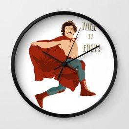 Take It Easy, El Luchador Mascarado Artwork Wall Clock