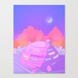 Pastel Capsule Corp Canvas Print