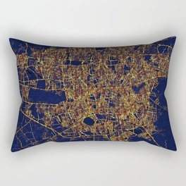 Tehran, Iran - City At Night Rectangular Pillow