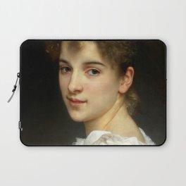 """William-Adolphe Bouguereau """"Portrait of Gabrielle Cot"""" Laptop Sleeve"""