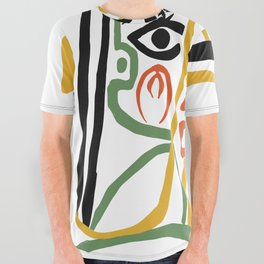 Picasso - Woman's head #1 All Over Graphic Tee