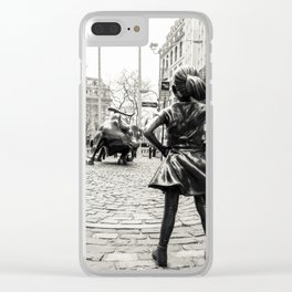 Fearless Girl & Bull - NYC Clear iPhone Case