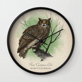 Great Cyclopean Owl Wall Clock