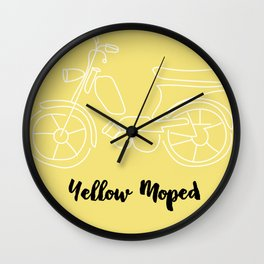 Yellow Moped Wall Clock