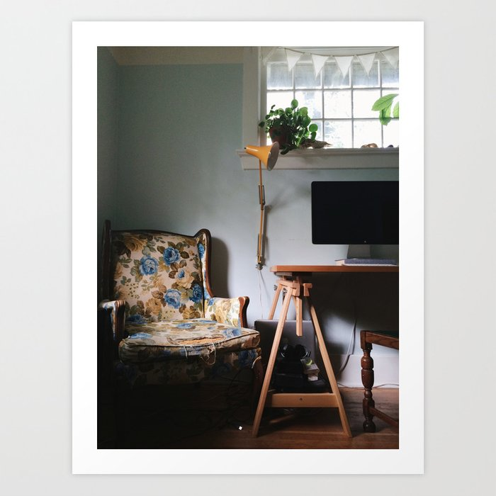 A Quiet Corner At Home Art Print By Fleurdelilli Society6